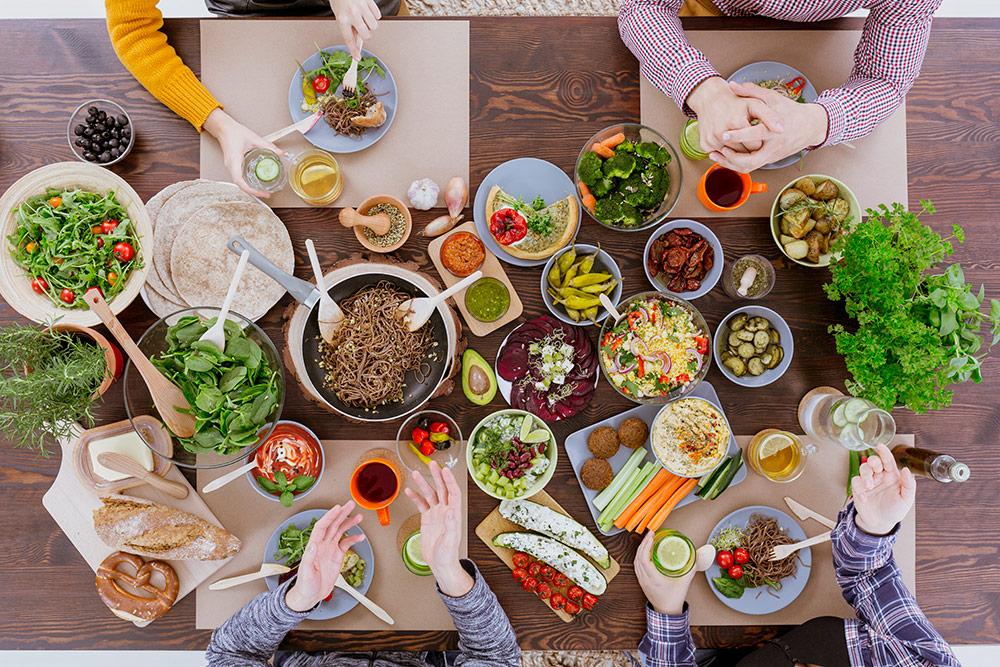 Alimentos basicos para dieta vegetariana